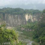 インドネシアのグランドキャニオン、ガライ・シアノ渓谷を眺める