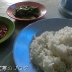 スマトラ島のローカル食堂で豚料理「バビパンガン(Babi panggang)」を食べる
